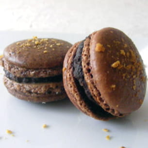 macarons au chocolat et à l'érable