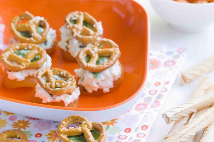 Abricots secs farcis au bretzel croquant