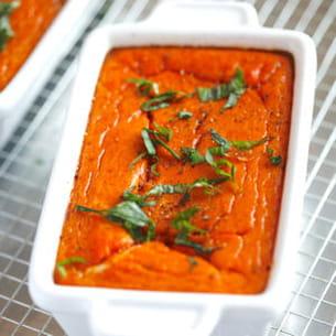 flan de tomacouli® basilic et mozzarella