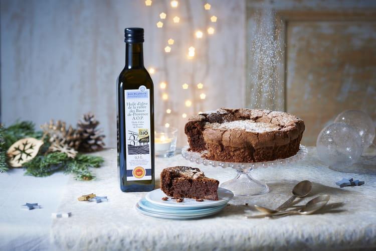 Fondant au chocolat extra noir à l'huile d'olive des Baux de Provence A.O.P. par Bio Planète