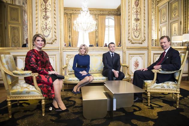 Entourés par la Duchesse et le Duc de Luxembourg