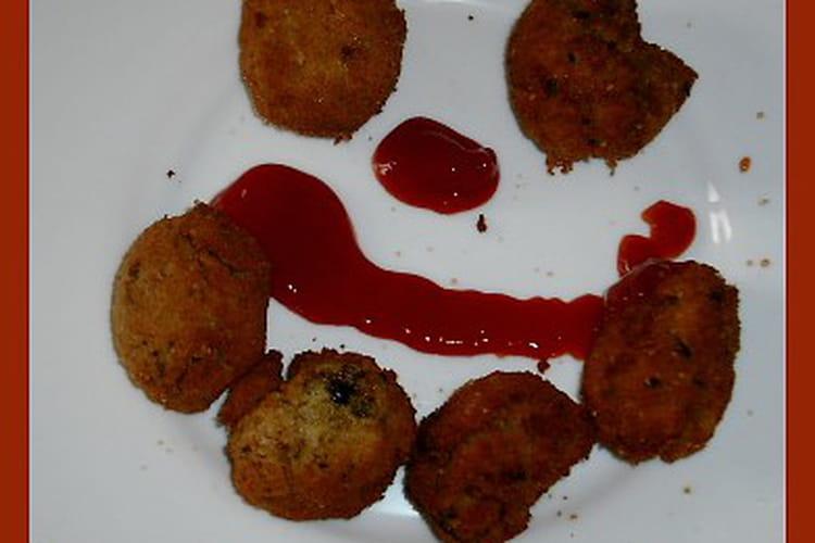 Beignets de semoule (sucrés) au jambon et fromage