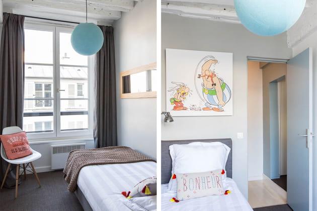 Une petite chambre dans les mêmes tons