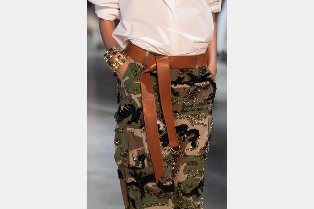 La ceinture en cuir longue nouée du défilé Alexandre Vauthier