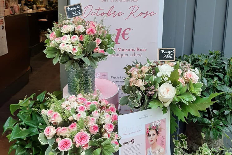 Des fleurs pour Octobre Rose