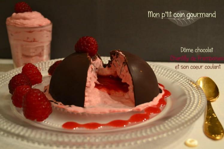 Dôme chocolat coeur coulant framboise