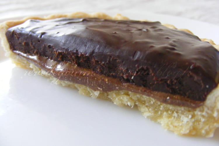 Tartelettes choco-caramel , noix et noisettes