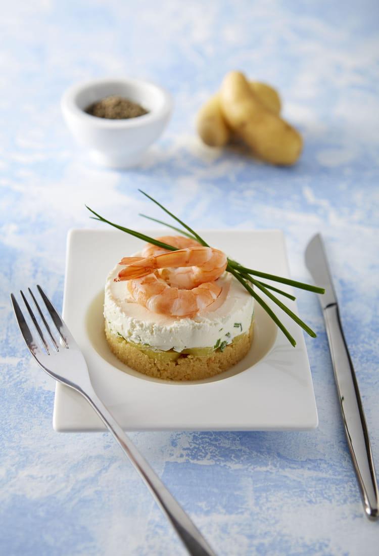 Recette de cheesecake de crevettes et ratte du touquet la recette facile - Cuisiner la ratte du touquet ...