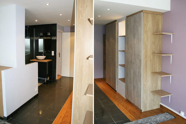 salle de bains ouverte. Black Bedroom Furniture Sets. Home Design Ideas