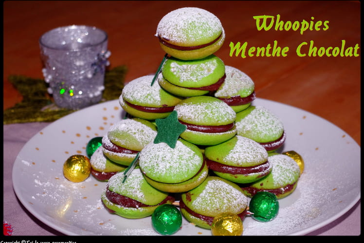 Whoopies menthe-chocolat
