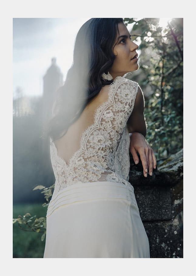 Robe de mariée dos nu, Laure de Sagazan