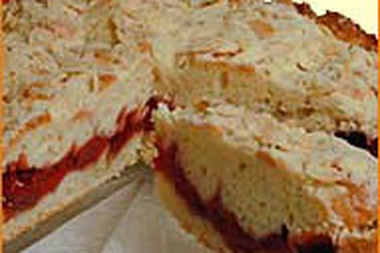 Gâteau aux cerises et amandes