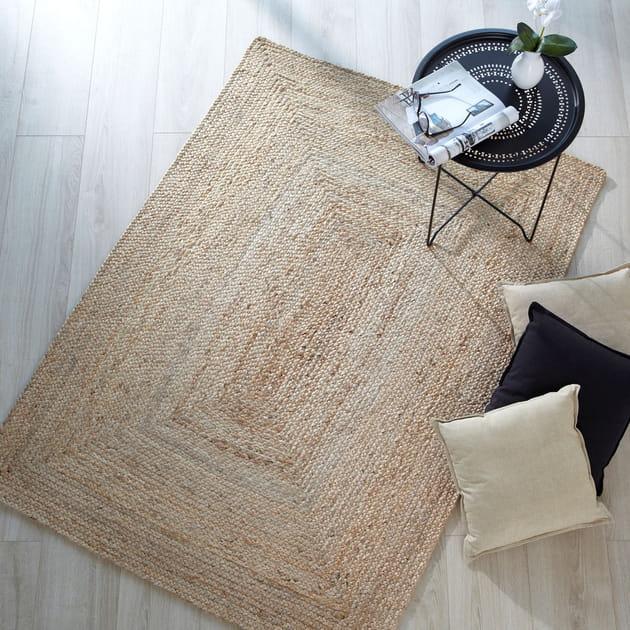 un tapis naturel. Black Bedroom Furniture Sets. Home Design Ideas