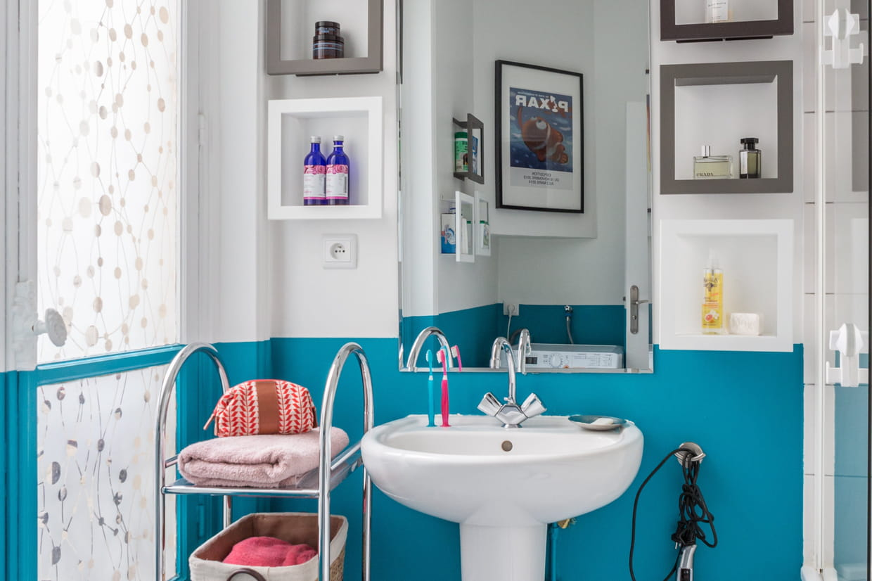 Carrelage Salle De Bain Bleu Turquoise salle de bains bleue : le plein de fraîcheur et de vitalité