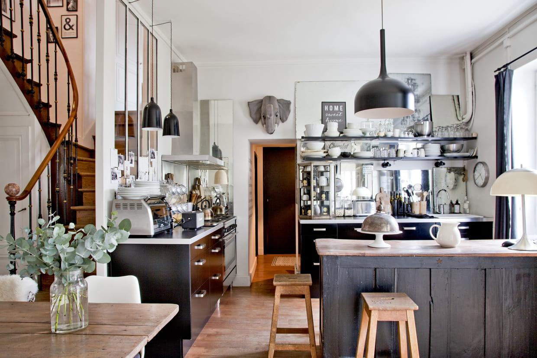cuisine ouverte bric et broc. Black Bedroom Furniture Sets. Home Design Ideas