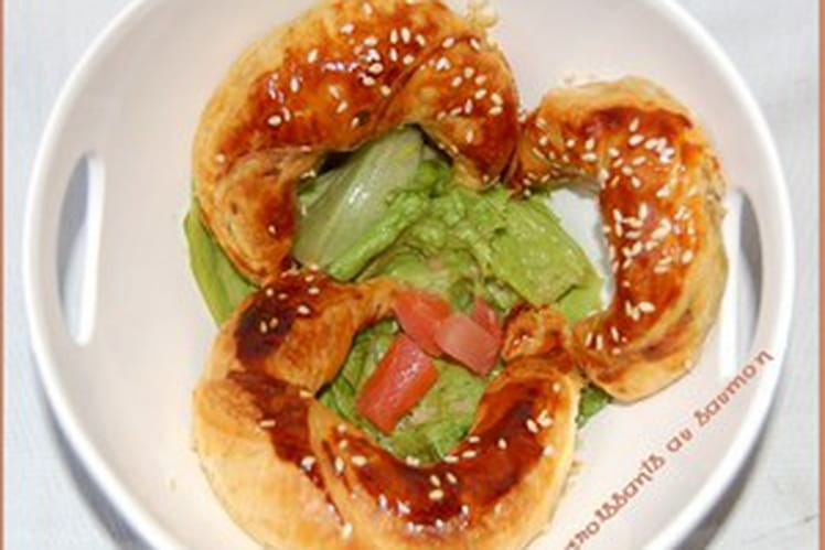 Mini croissant au saumon fumé