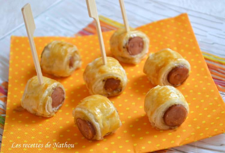 Recette de rouleaux feuillet s saucisse et moutarde la recette facile - Cuisiner des saucisses de strasbourg ...