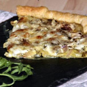 tarte blette, échalote et mozzarella