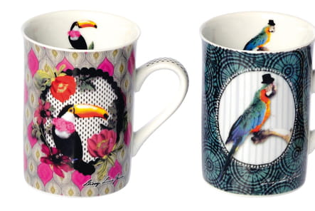 Collection Tropical Birds mugs d'Ambiance et Styles