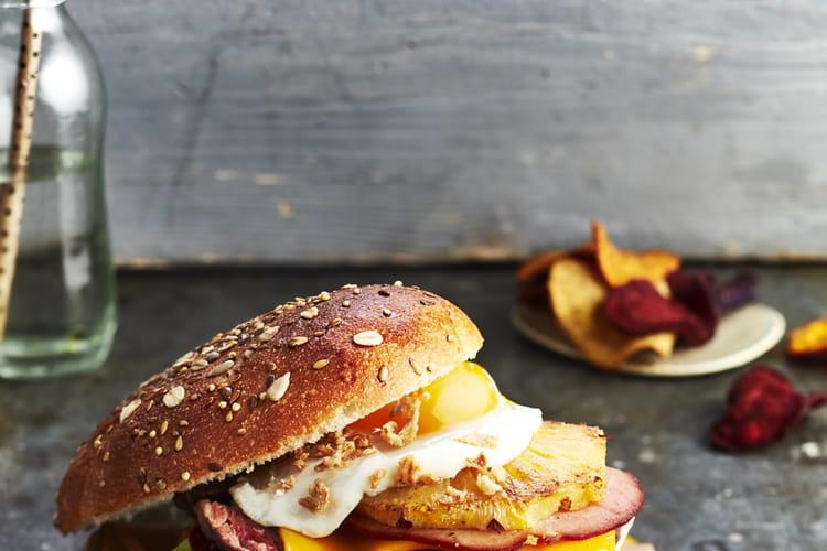 Burgers de hampe de bœuf à l'australienne