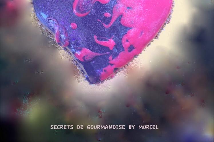 Coeur de chocolat noir et mousse nutella