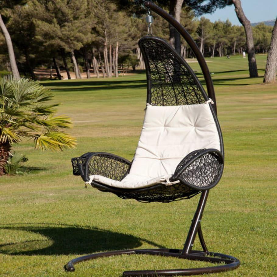 Chaise suspendue rio de jardiland for Chaise longue jardin babou