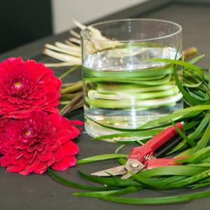 les éléments nécessaires à la confection de votre bouquet