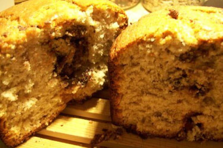 Cake bananes Nutella à la machine à pain