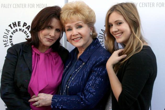Avec sa fille et sa petite-fille