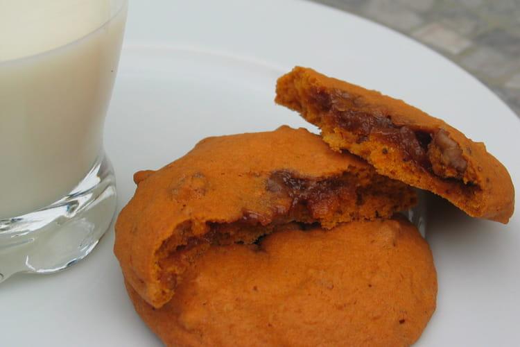 Cookies au potiron et au caramel au beurre salé