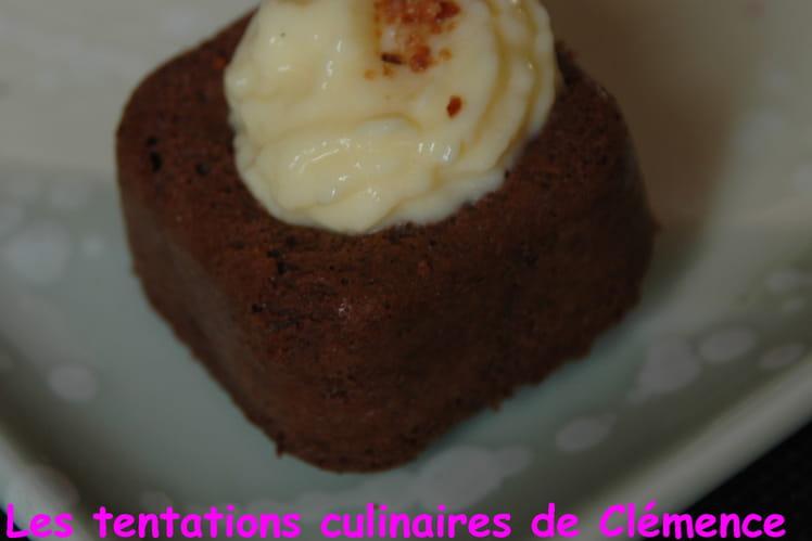 Bouchées chocolat-noisette et leur crème pâtissière
