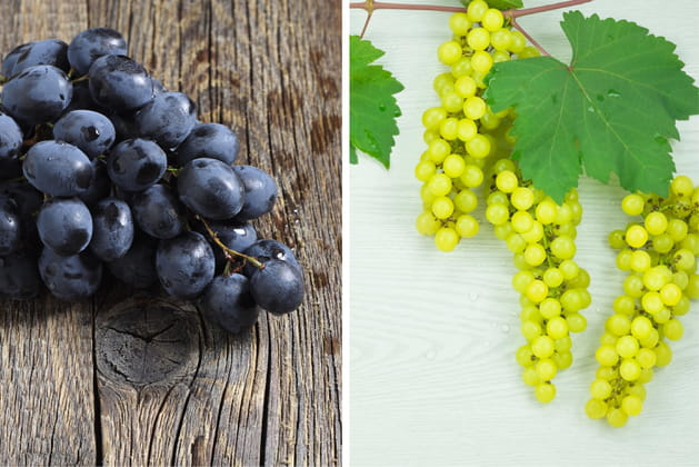 Raisin noir ou raisin blanc ?