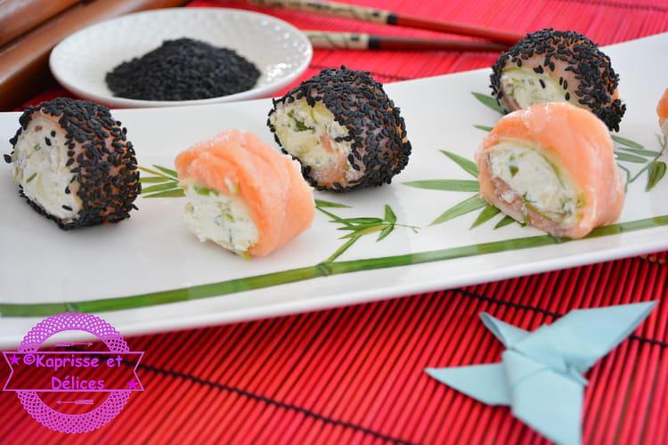 Roulés au saumon façon maki