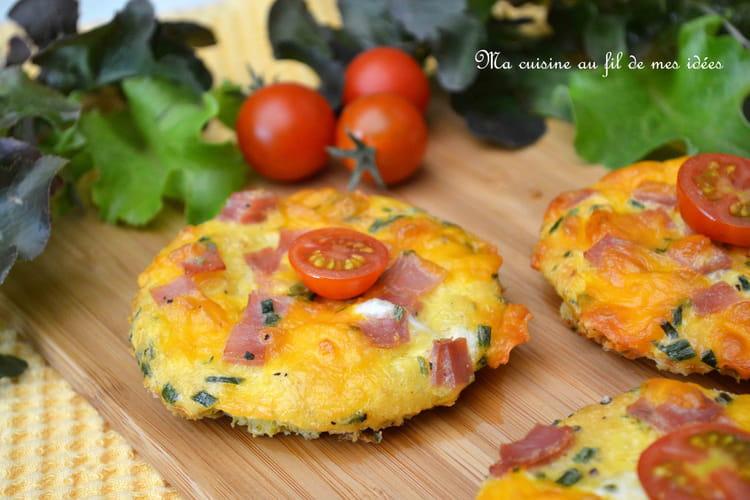 Toasts - omelettes au jambon, gruyère et cheddar