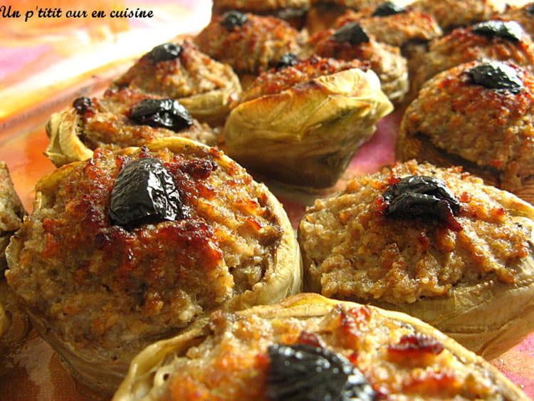 Recette artichauts farcis la recette facile - Cuisiner les artichauts ...