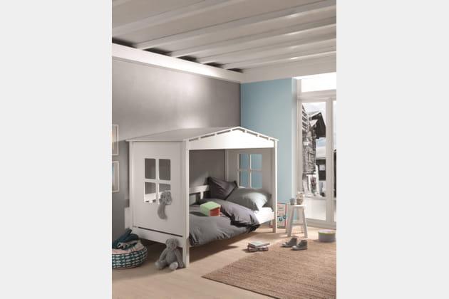 Lit cabane Happy Hut de Cocktail Scandinave
