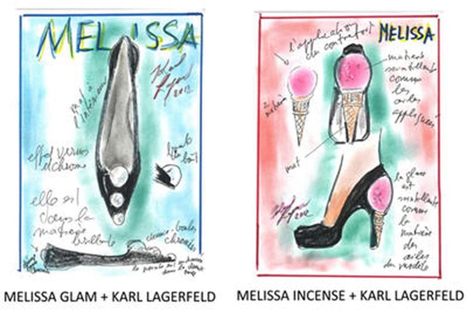 Karl Lagefeld et Melissa s'associent pour des chaussures très mode