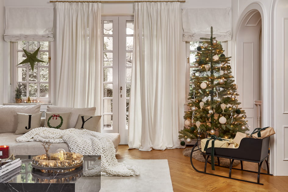 Noël blanc et brillant