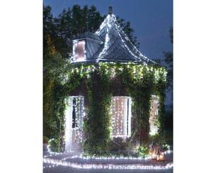 guirlandes lumineuses de jardin chic