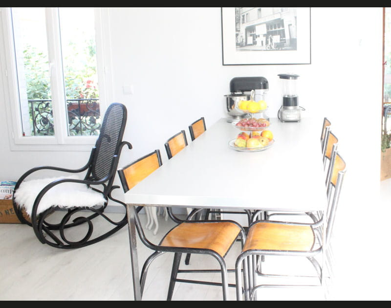 Après: une salle à manger à l'esprit studieux
