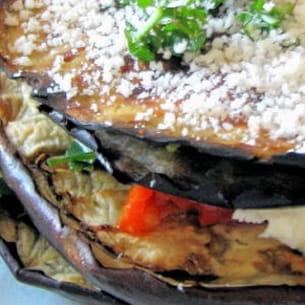 mille-feuille d'aubergines à l'italienne