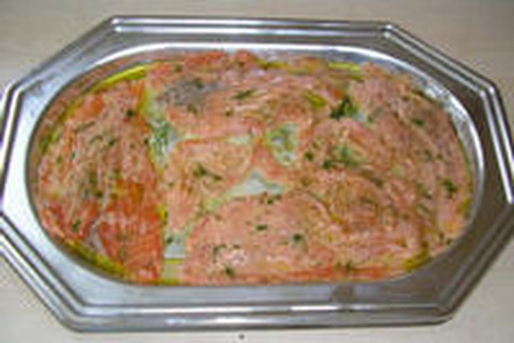 Carpaccio de saumon et de thon