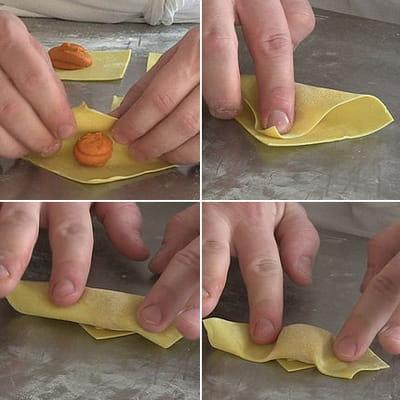 le façonnage des tortelli