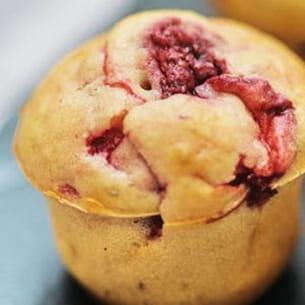 mini-muffins aux fraises et poivre sichuan