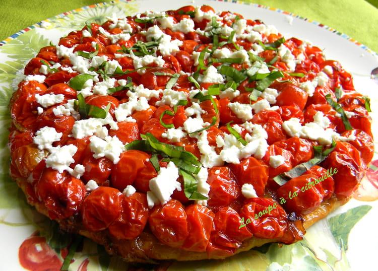Recette de tarte aux tomates cerises et f ta la recette for Dessert avec des cerises fraiches