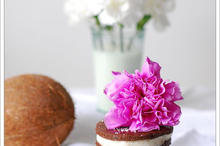 Biscuit cru chocolat coco sans gluten