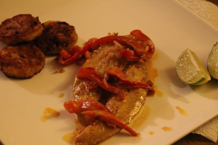 Filet de pangasius au curry rouge et citron vert  la recette facile