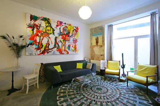 Déco colorée pour maison d'artistes