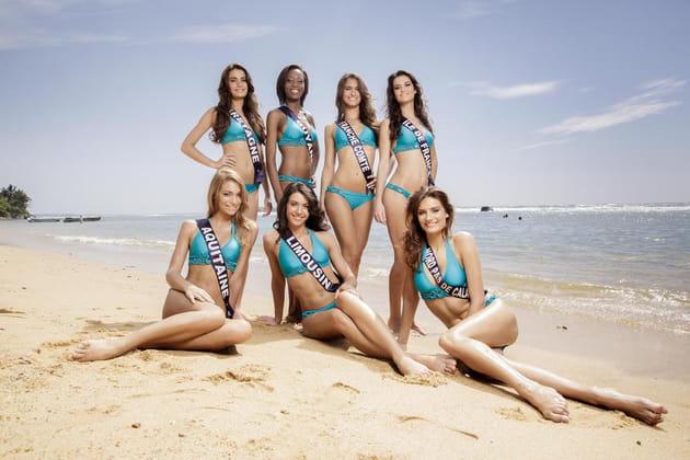 Miss Bretagne, Guyane, Franche-Comté, Île-de-France, Aquitaine, Limousin et Nord-Pas-de-Calais