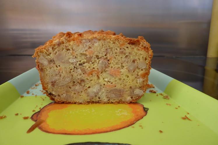 Cake châtaignes-saumon fumé